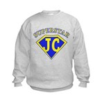 JC superstar in blue Sweatshirt