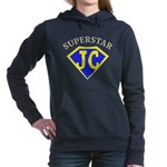 JC superstar in blue Women's Hooded Sweatshirt