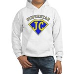 JC superstar in blue Hoodie