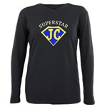 JC superstar in blue Plus Size Long Sleeve Tee