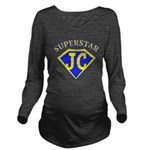 JC superstar in blue Long Sleeve Maternity T-Shirt