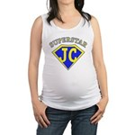 JC superstar in blue Maternity Tank Top