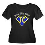 JC superstar in blue Plus Size T-Shirt