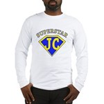 JC superstar in blue Long Sleeve T-Shirt