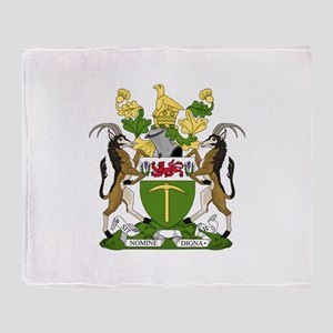Coat of arms of Rhodesia (1924–1981) Throw Blanket