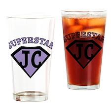 JC Superstar in purple Drinking Glass