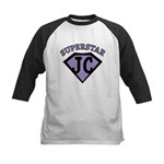 JC Superstar in purple Baseball Jersey