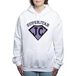 JC Superstar in purple Women's Hooded Sweatshirt