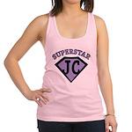 JC Superstar in purple Racerback Tank Top