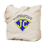 JC superstar in blue Tote Bag