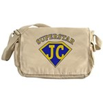 JC superstar in blue Messenger Bag