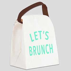 Lets Brunch Canvas Lunch Bag