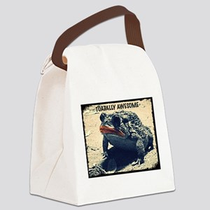 TOADALLY AWESOME Canvas Lunch Bag