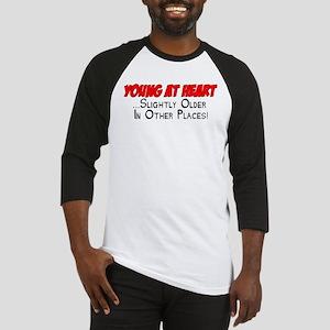 Young At Heart Funny Shirt Baseball Jersey