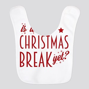 Christmas Break Polyester Baby Bib