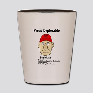 Funny Proud Deplorable Shot Glass