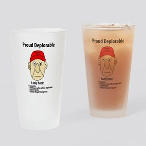 Funny Proud Deplorable Drinking Glass