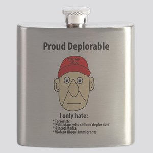 Funny Proud Deplorable Flask