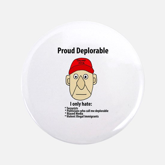 Funny Proud Deplorable Button