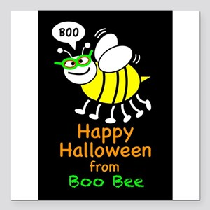 """Boo Bee Square Car Magnet 3"""" x 3"""""""