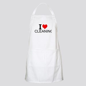 I Love Cleaning Apron