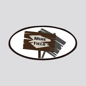Mine Field Sign Patch