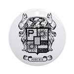 Purchis Family Crest Round Ornament