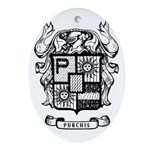 PURCHIS FAMILY CREST Oval Ornament