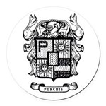 PURCHIS FAMILY CREST Round Car Magnet
