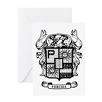 PURCHIS FAMILY CREST Greeting Cards