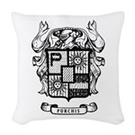 Purchis Family Crest Woven Throw Pillow