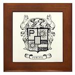 Purchis Family Crest Framed Tile