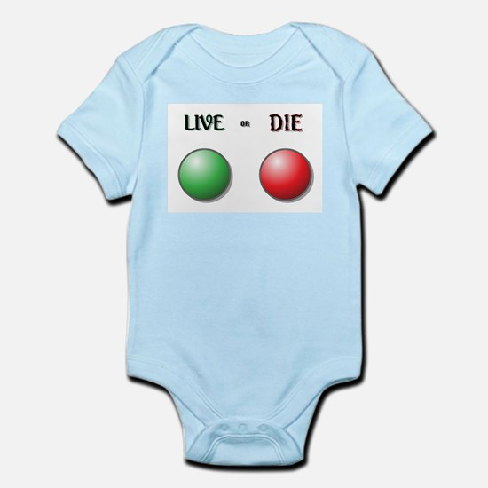 Live or Die Buttons Body Suit