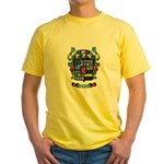 Purchis Crest (color) Yellow T-Shirt