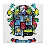 Purchis Crest (color) Tile Coaster
