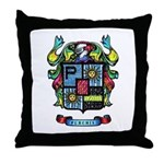 Purchis Crest (color) Throw Pillow
