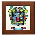 Purchis Crest (color) Framed Tile