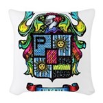Purchis Crest (color) Woven Throw Pillow