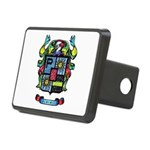 Purchis Crest (color) Rectangular Hitch Cover