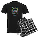 Purchis Crest (color) Men's Dark Pajamas
