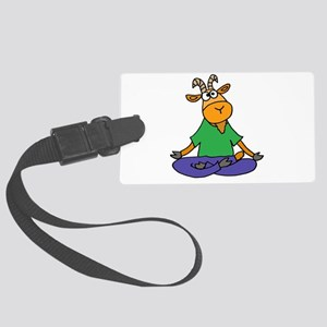 Goat Yoga Large Luggage Tag