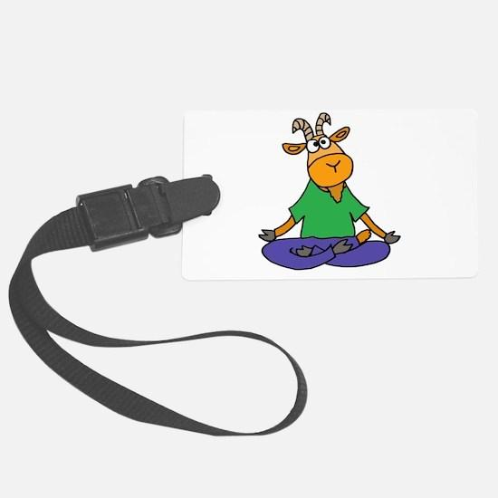 Goat Yoga Luggage Tag
