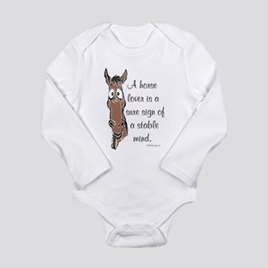 Bay Horse Lover Infant Creeper Body Suit