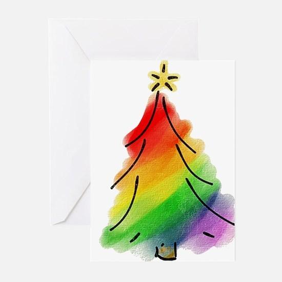 rainbow-xmas-tree_tr Greeting Cards