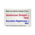 Yes-To-American-Dream Rectangle Magnet Magnets