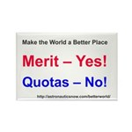 Yes-To-Merit No-To-Quotas Rectangle Magnet Magnets