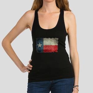 Texas Flag Vintage Retro Style Racerback Tank Top