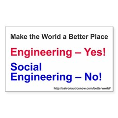 Yes-To-Engineering Sticker (rectangle)