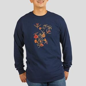 Mangrove Hummingbird Vintage Audubon Birds Long Sl