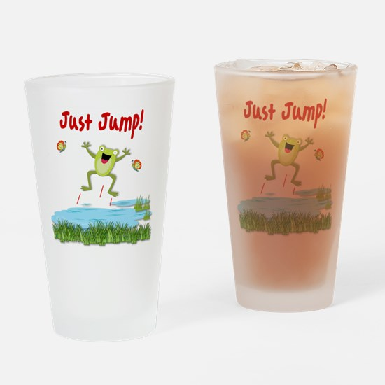 Just Jump Drinking Glass